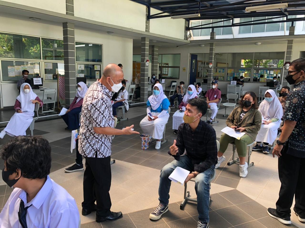 Pelaksanaan Vaksinasi ke 2 Pelajar di Sekolah Tara salvia