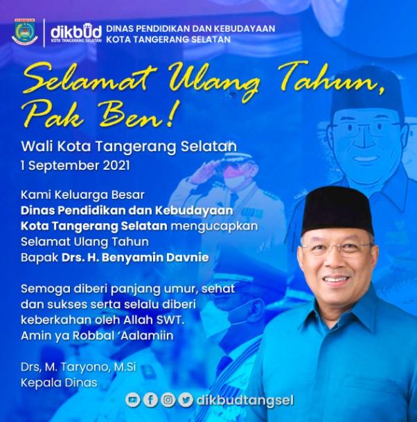 Selamat Ulang Tahun  Bapak Drs. H. Benyamin Davnie